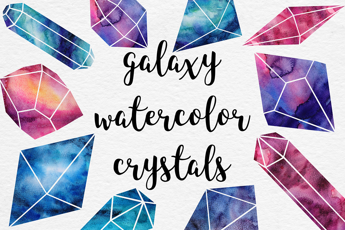 Watercolor Crystals Collection example image 1