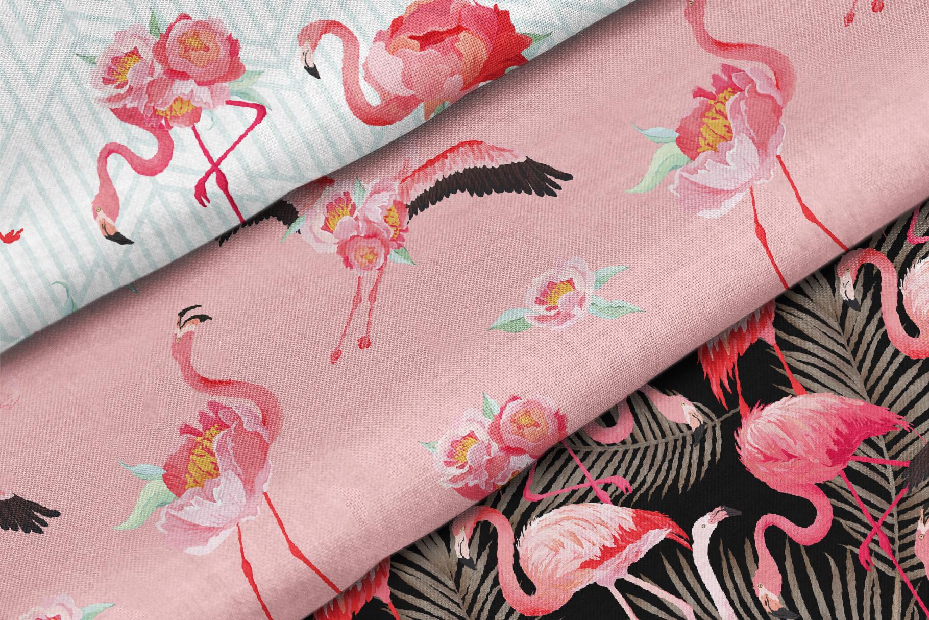 Flamingo and Flowers Design Kit example image 3