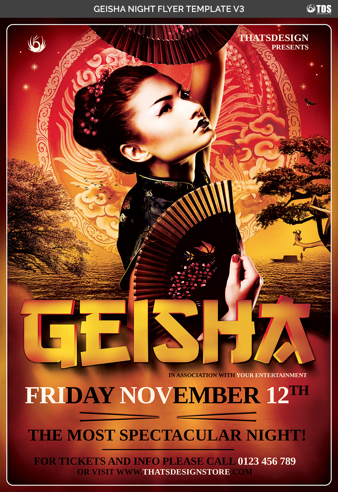 Geisha Night Flyer Template V3 example image 4