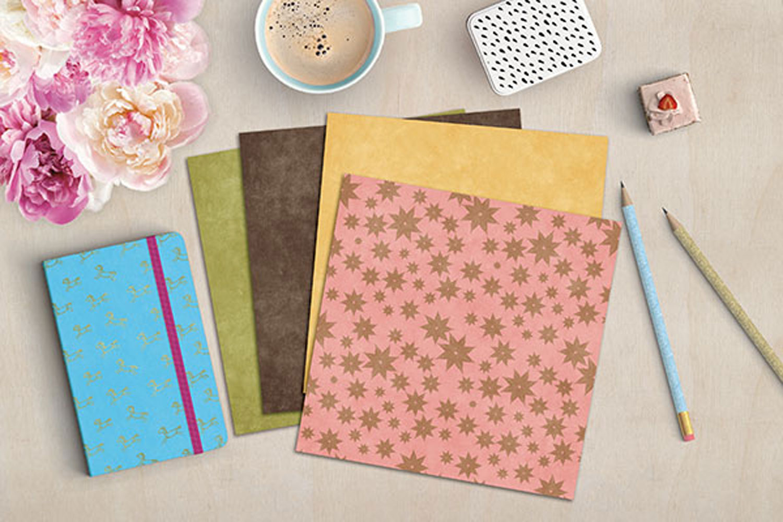 Vintage Leaves Digital Paper example image 3