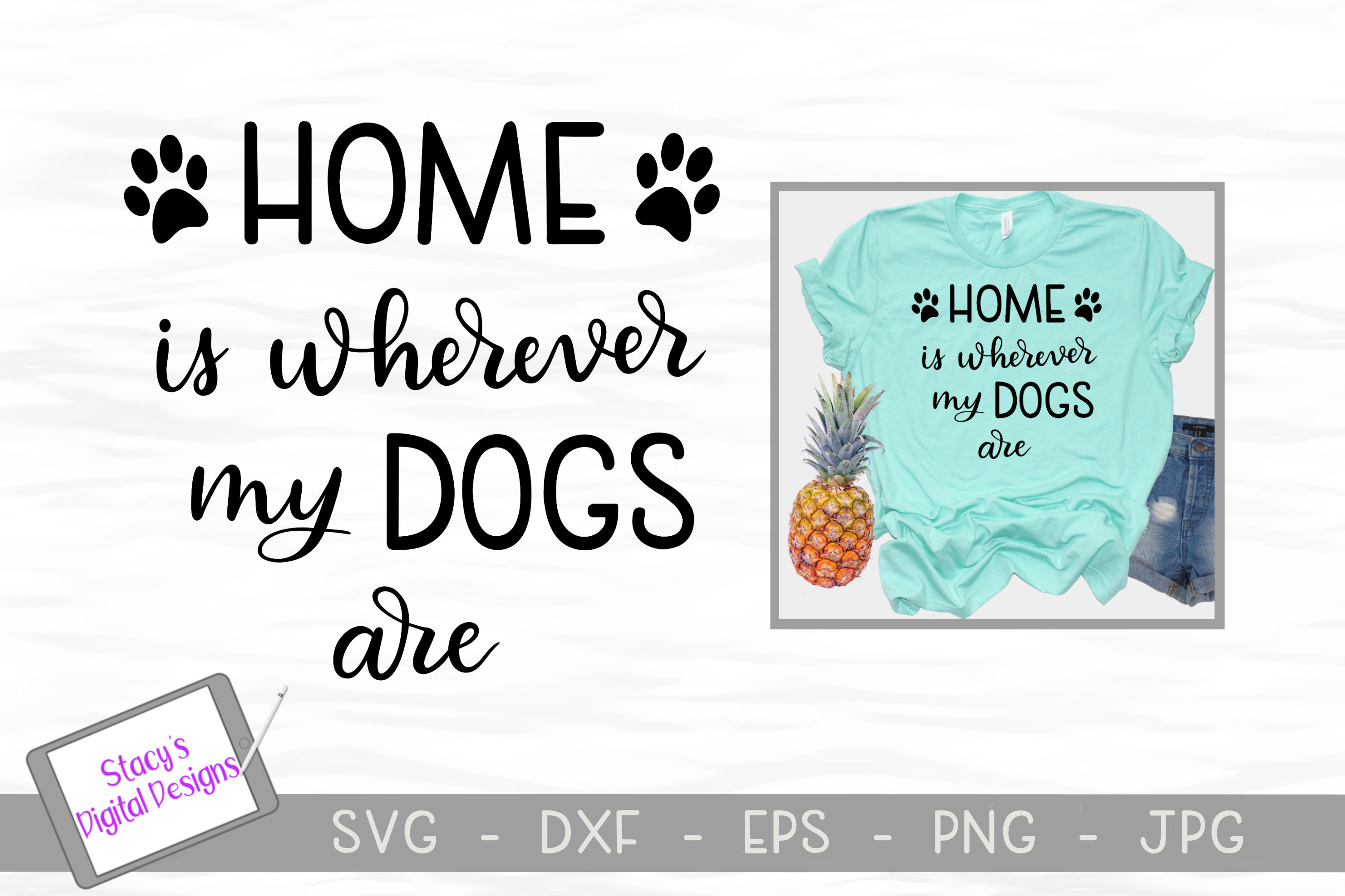 Dog SVG Bundle - includes 7 dog SVG files example image 3