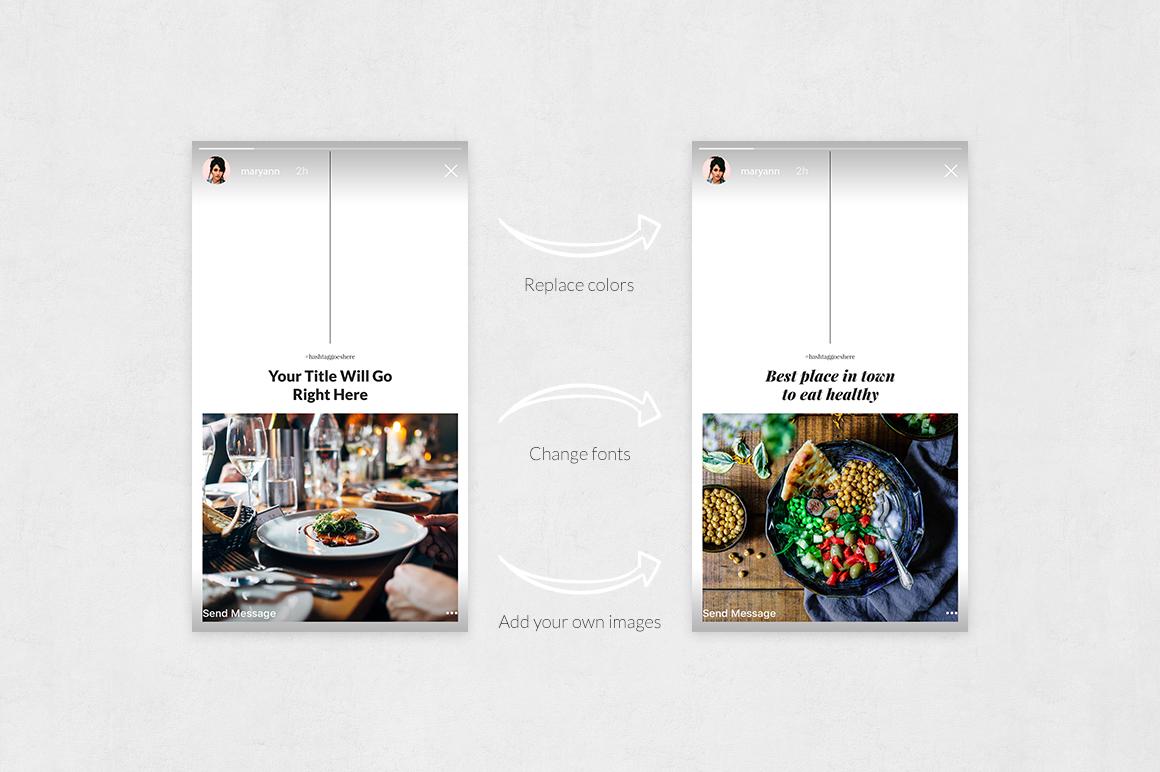 Restaurant Animated Instagram Stories example image 5