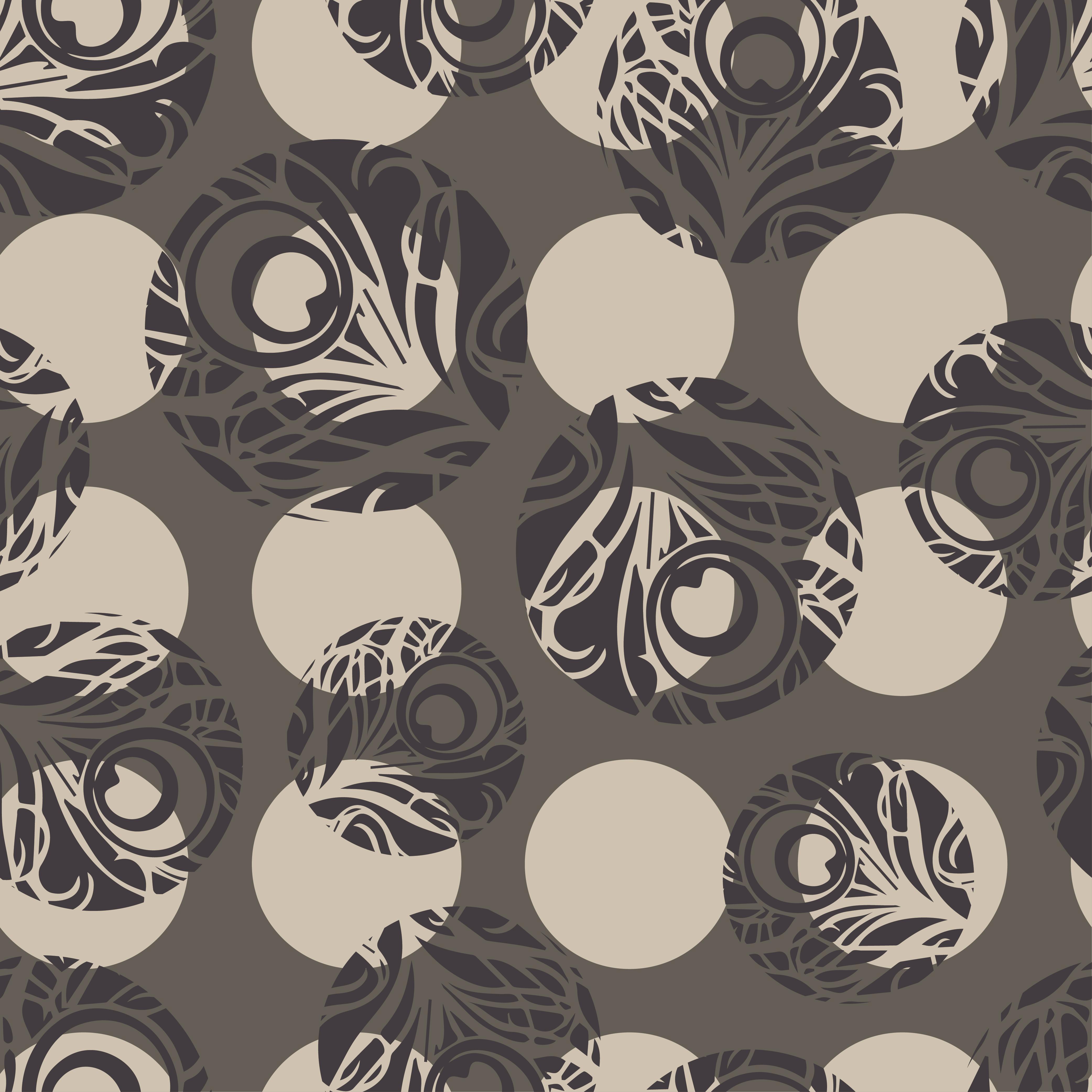 Polka dot seamless pattern. Vector illustration.  example image 1