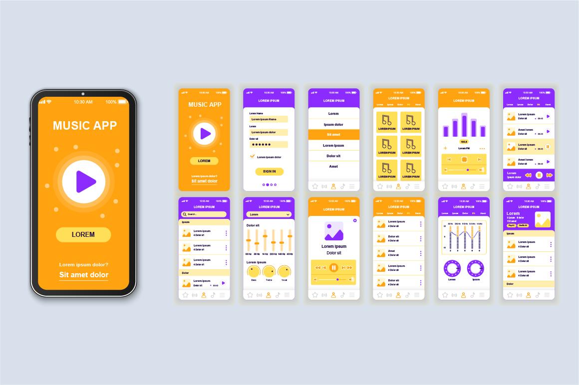 Bundle Mobile App UI Kit Screens example image 10