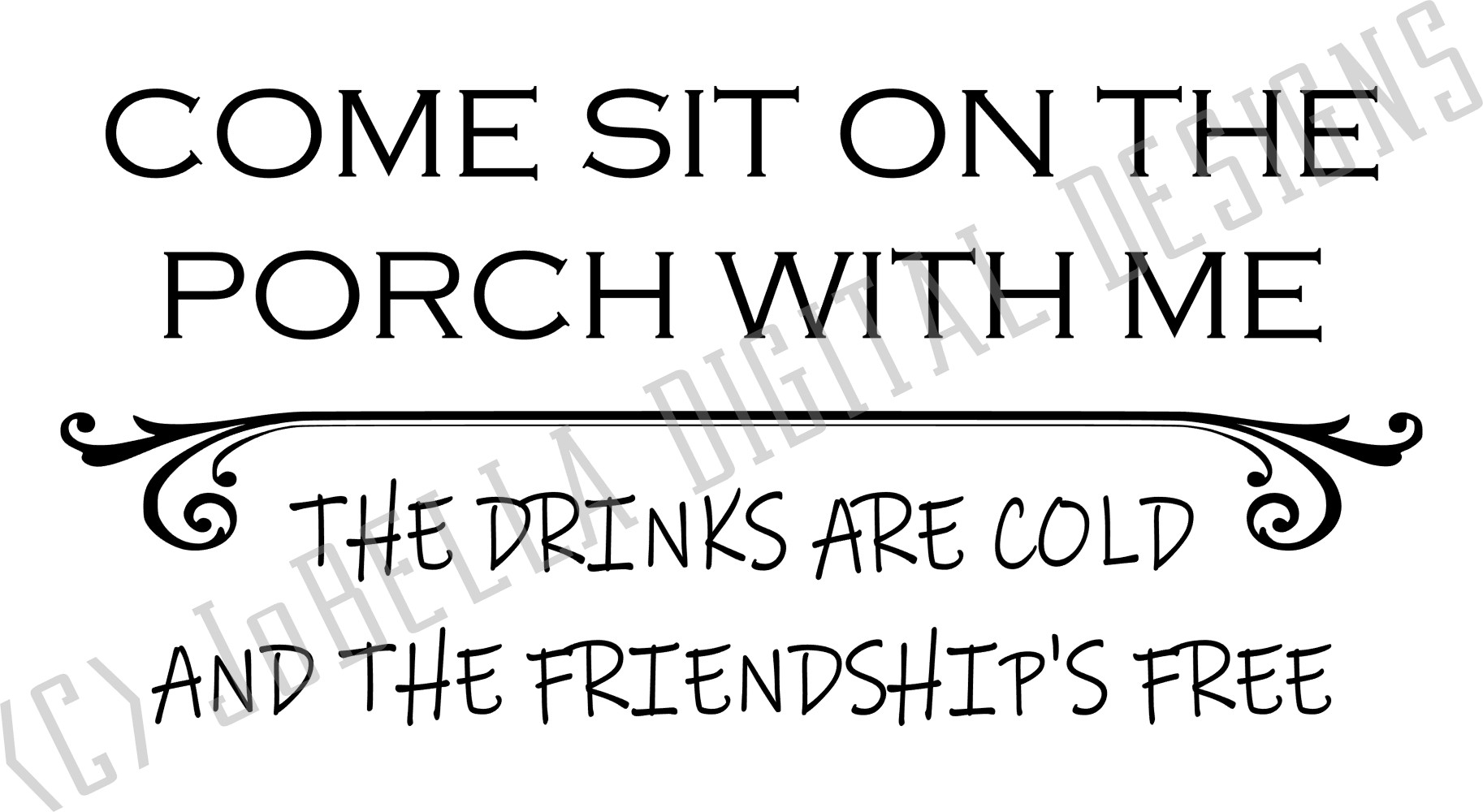 Come Sit On The Porch SVG, Sublimation Design and Printable example image 2