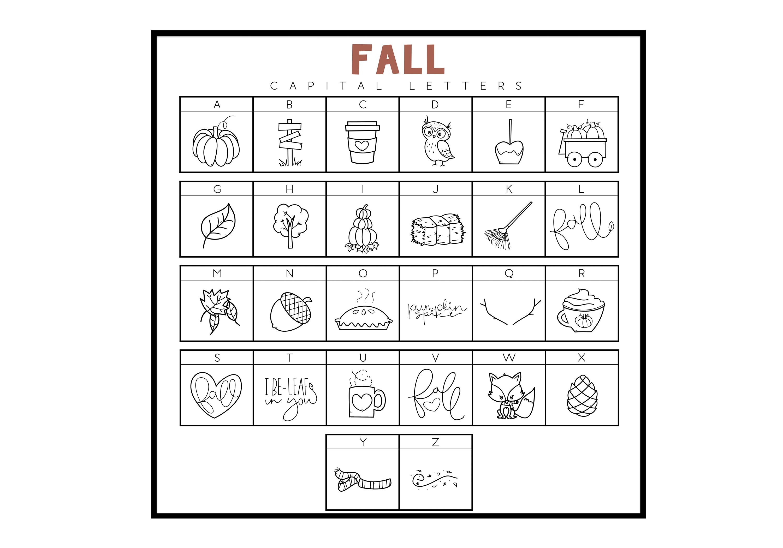 Fall Fun - A Fall / Autumn Doodles Font example image 4
