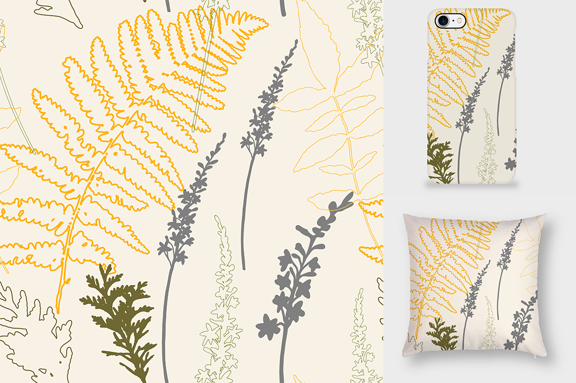 Autumn florals seamless pattern example image 6