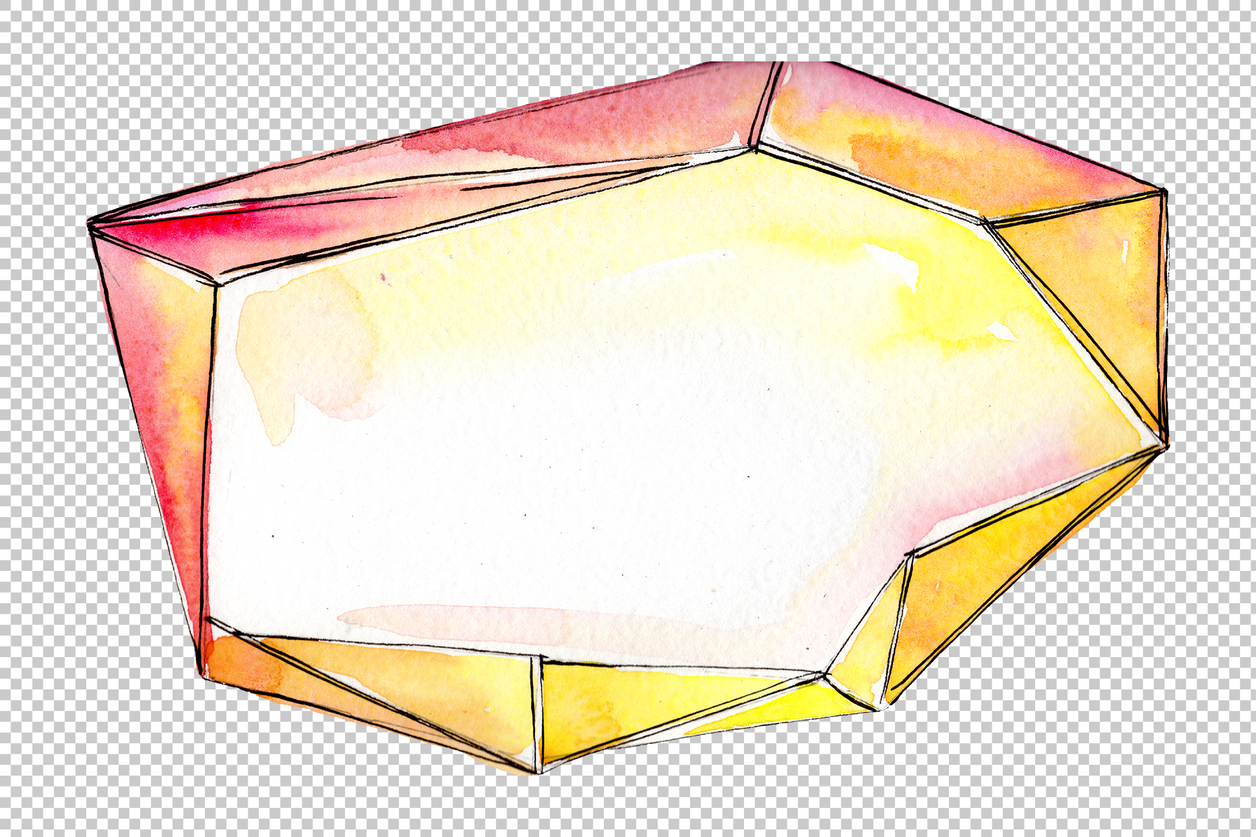 Tourmaline crystals Watercolor png example image 5
