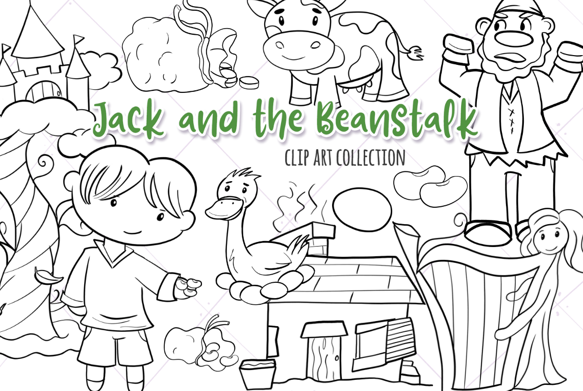 Jack and the Beanstalk Digital Stamps example image 1