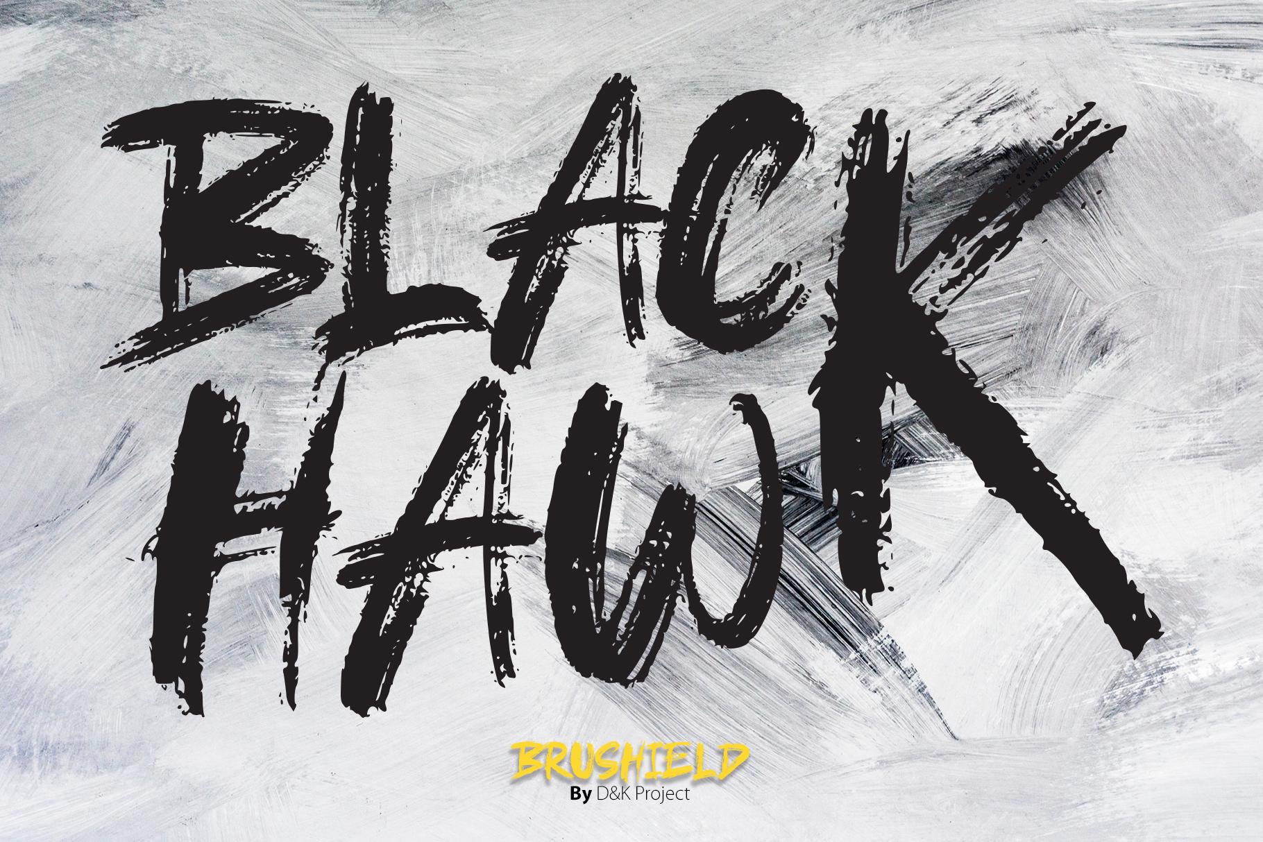 Brushield handwritten brush font example image 4
