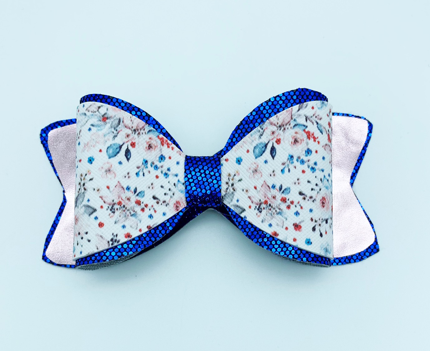Hair bow svg - Double back and wrap - template diy project example image 2