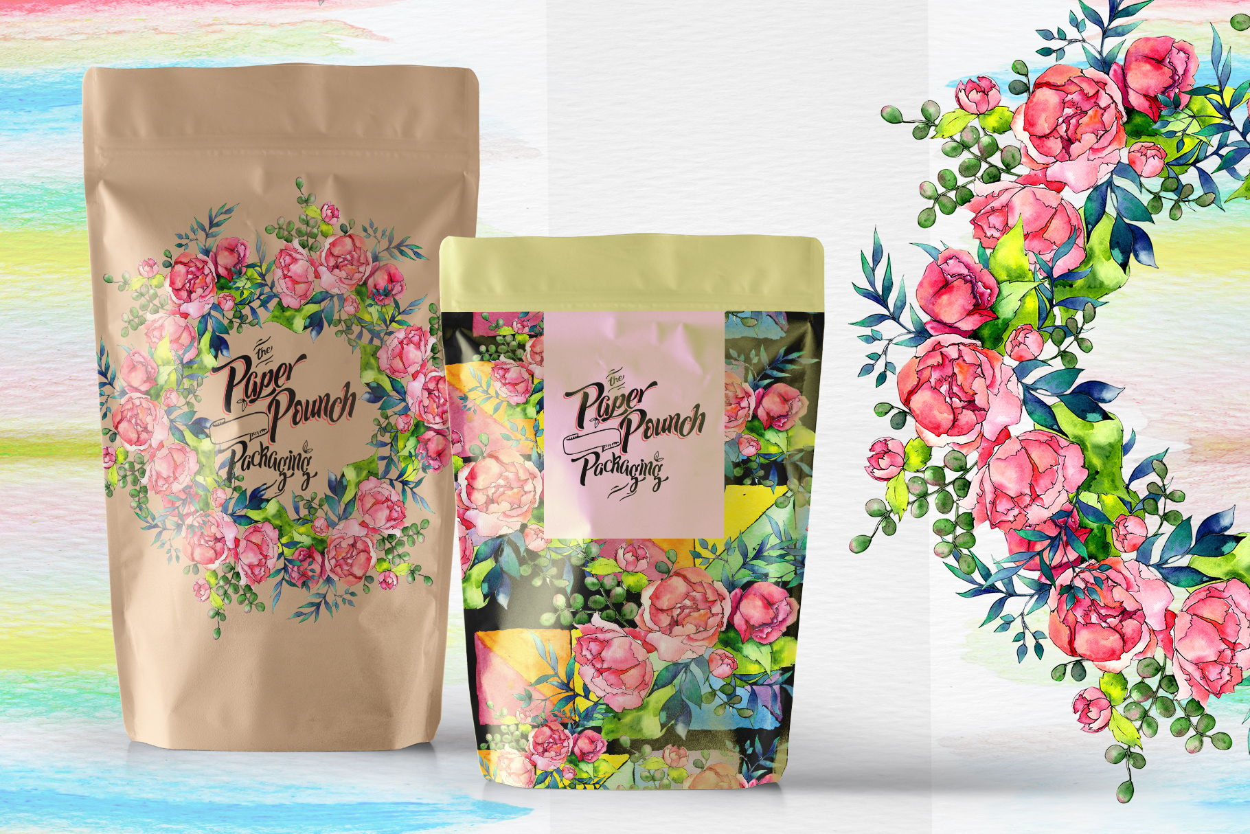 Spring bouquet PNG watercolor set  example image 5