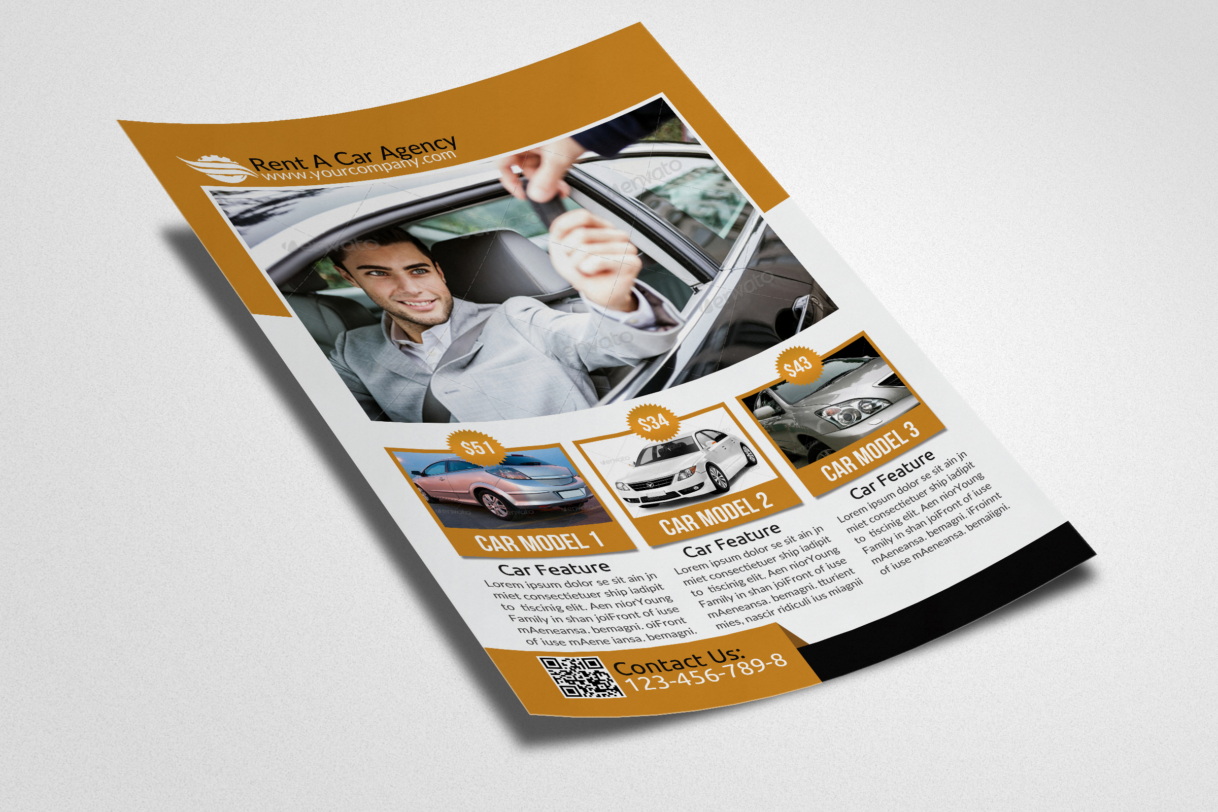 Rent A Car Flyer example image 2
