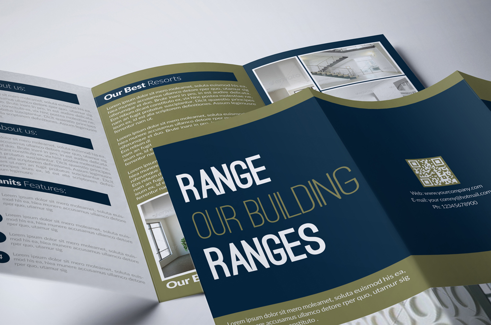 Real Estate Business Trifold Brochure example image 4