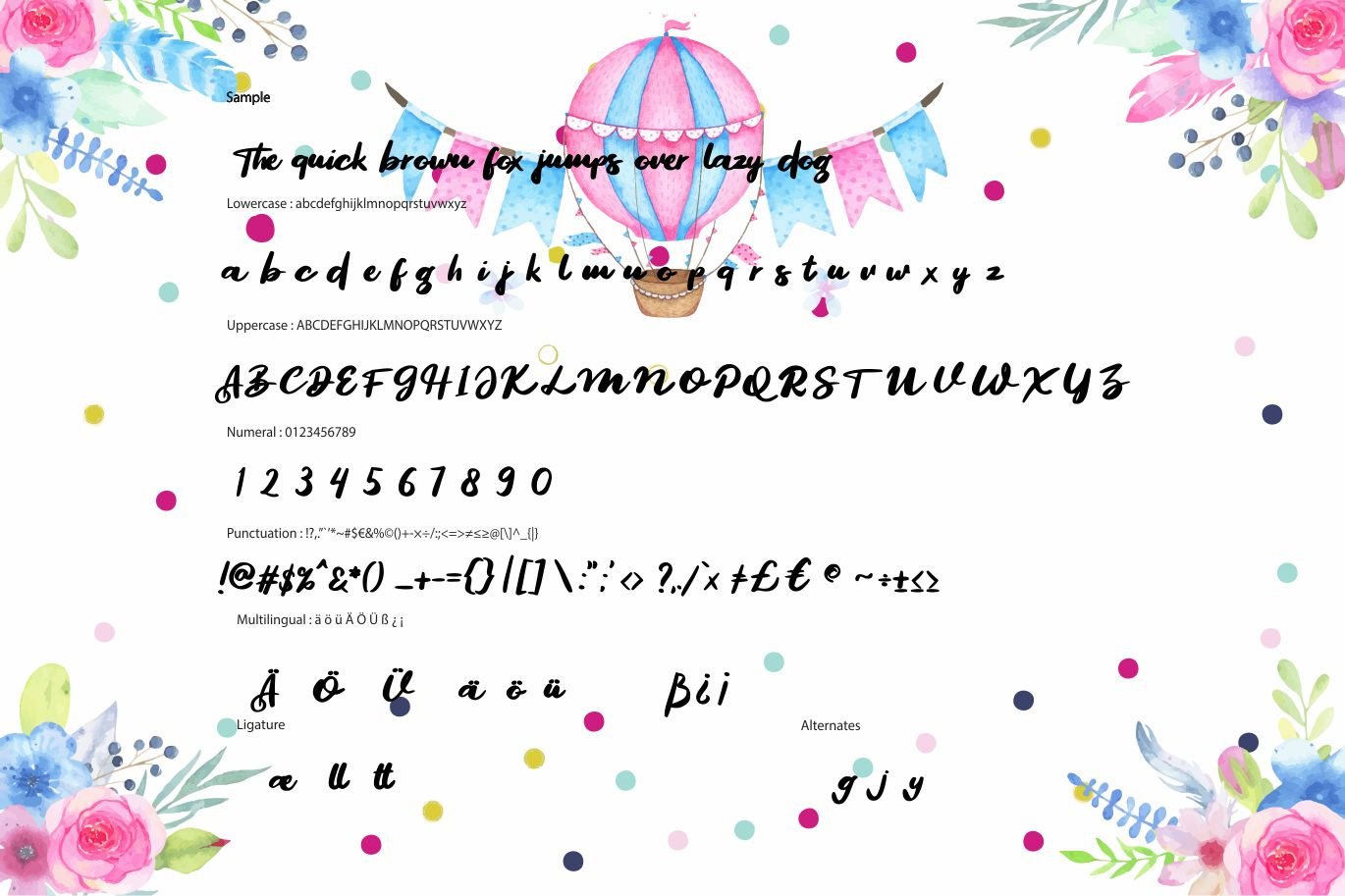 Segoul   Lucky Funny Font example image 6