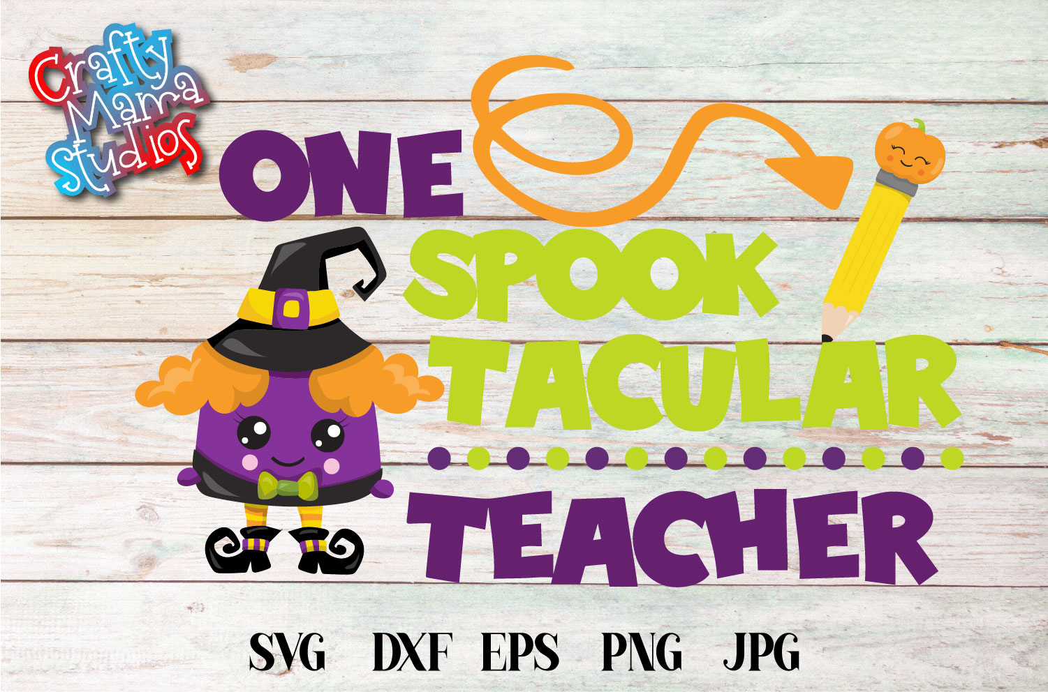 One Spook Tacular Teacher SVG Sublimation, Halloween SVG example image 2