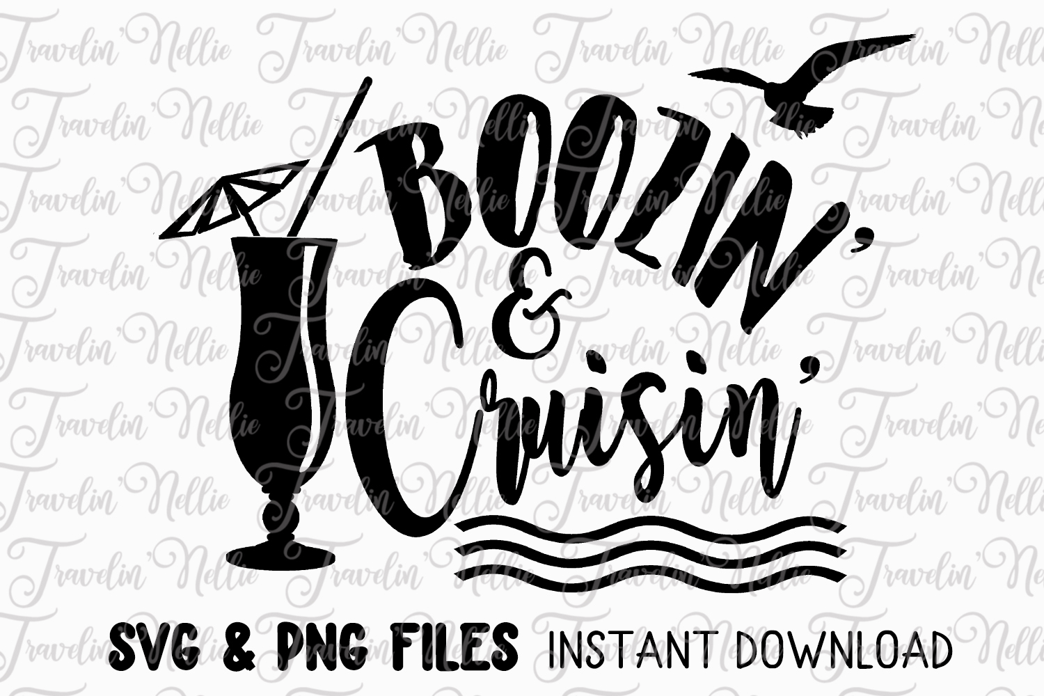 Boozin' Cruisin' SVG Cruise Vacation Tropical Drinking Humor example image 1