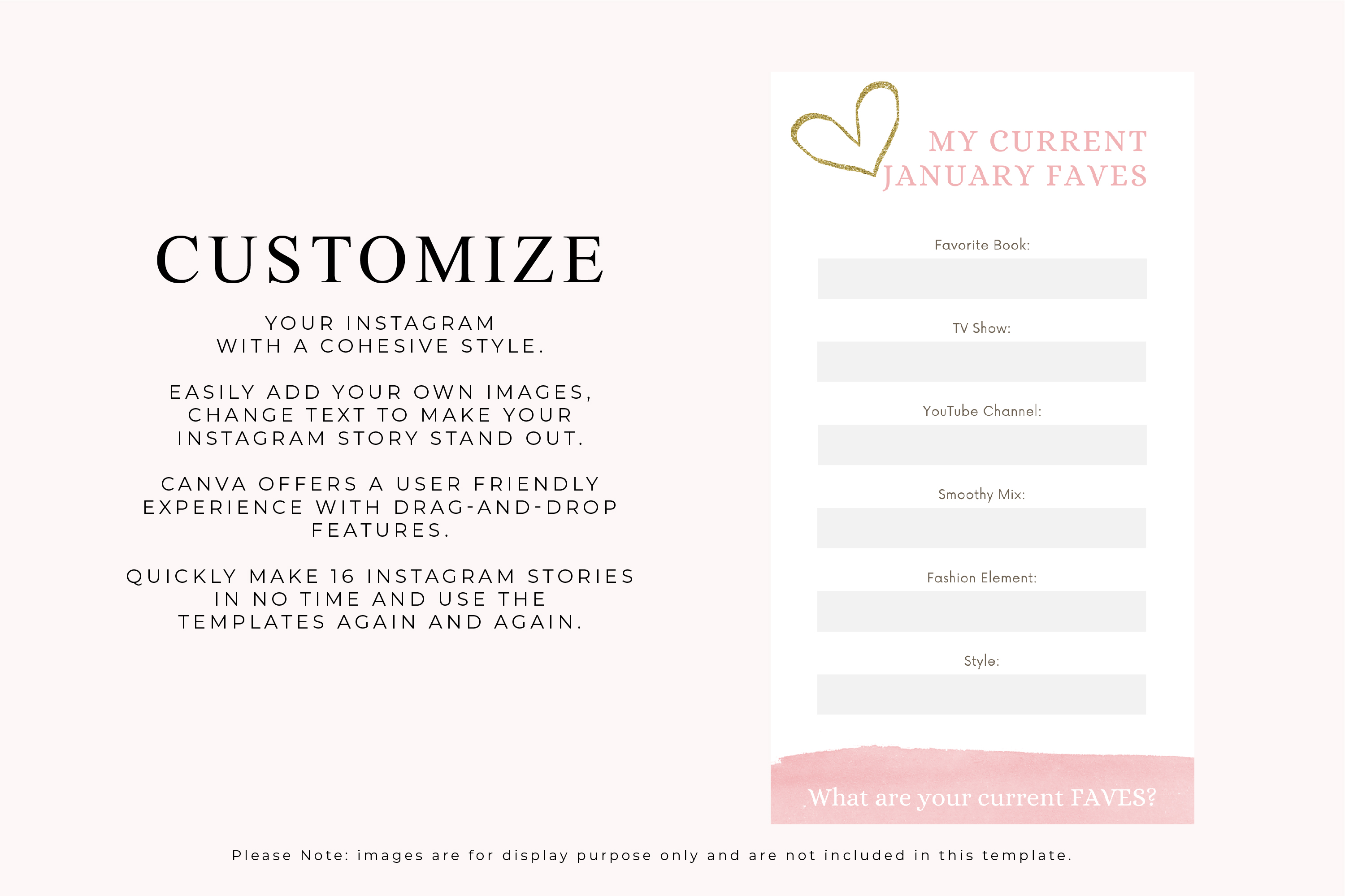 Instagram Story Canva Template - Blush example image 3