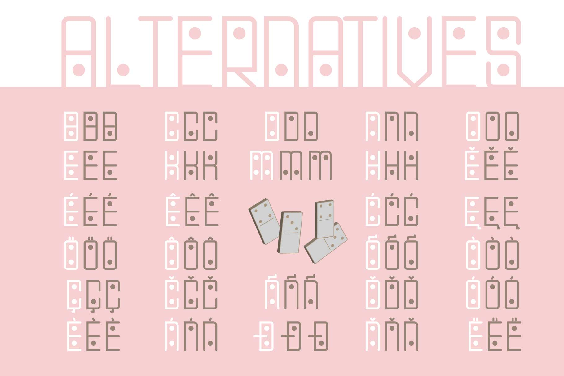 Domino-dot monospace san serif font duo example image 11