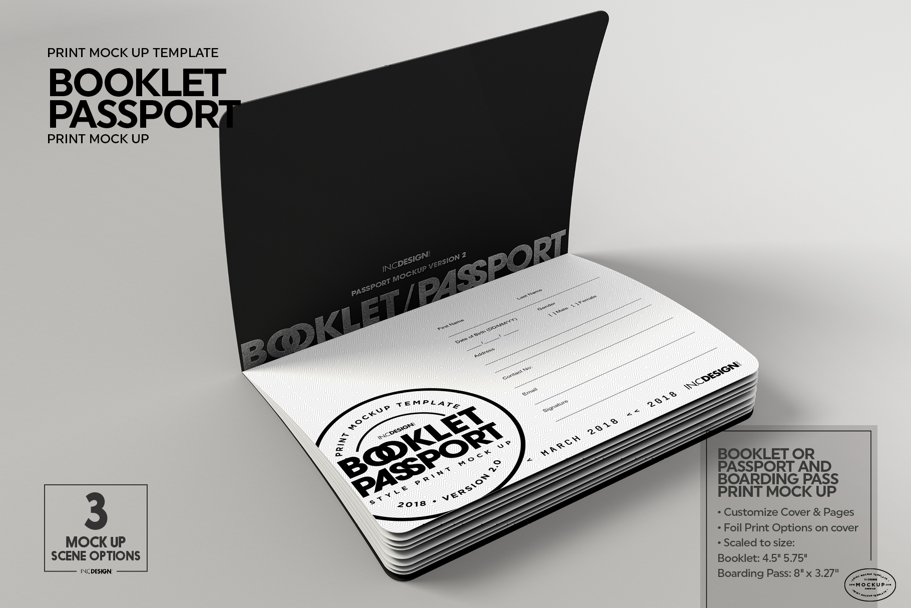 Booklet Passport Print MockUp example image 4