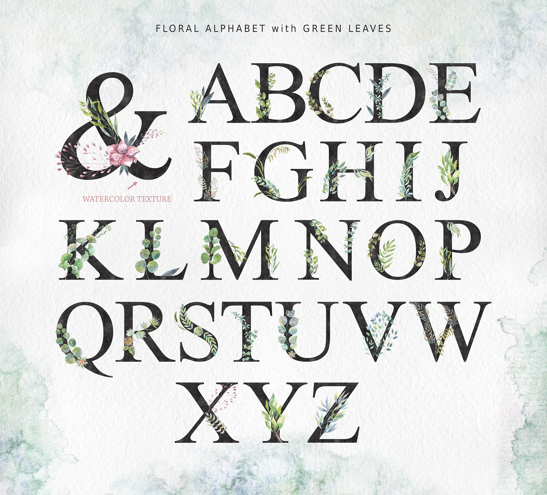 Floral Alphabets Collection. example image 7