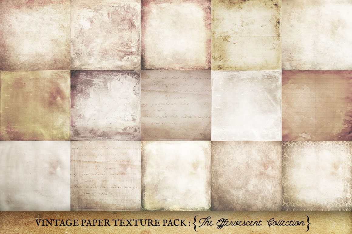 Vintage Paper Textures Effervescent Collection example image 3