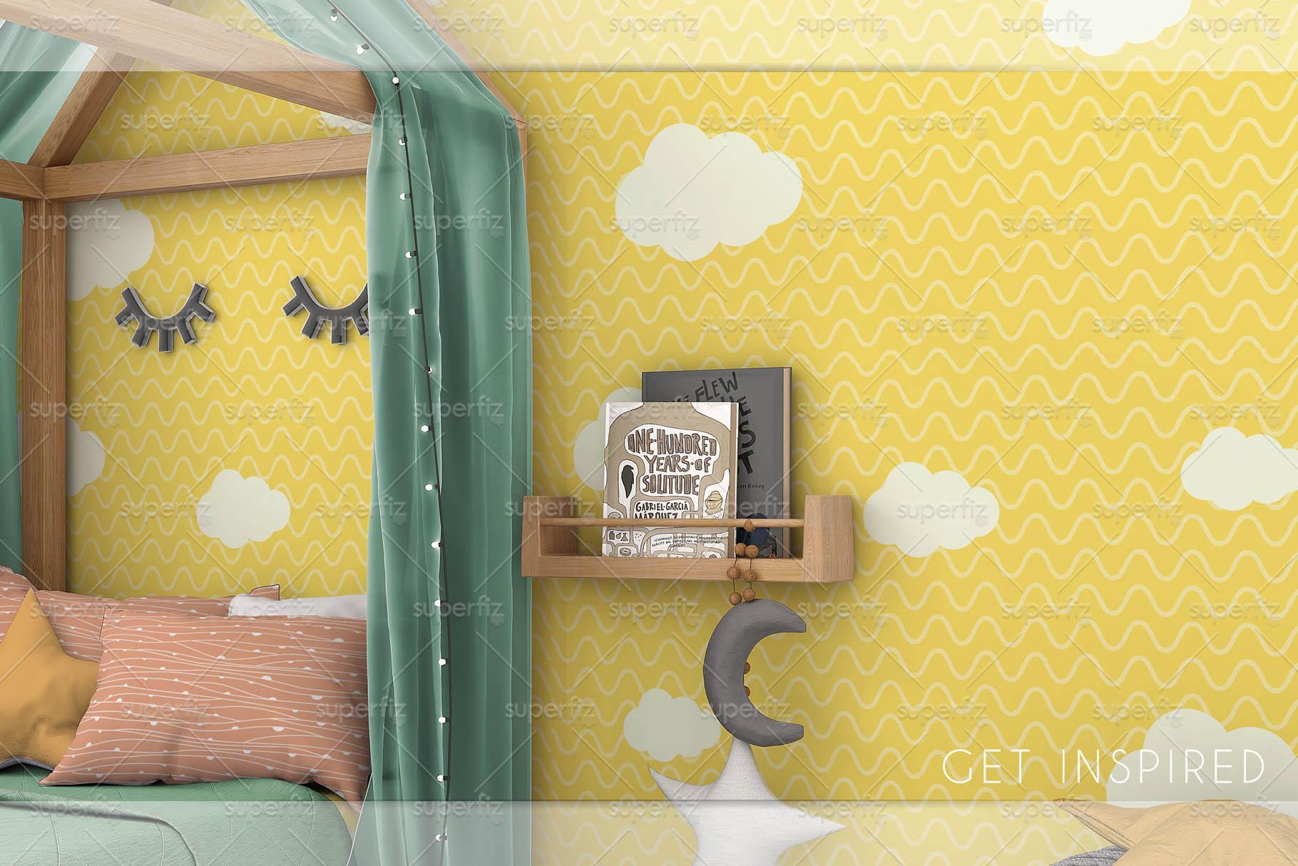 Wallpaper Mockup Kids Bedroom SM59 example image 6
