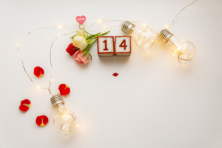 Valentine's day background with roses example image 1