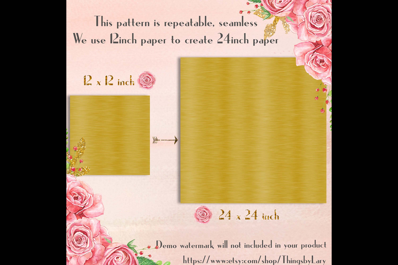 100 Seamless Brushed Metallic Polished Metal Digital Papers example image 7