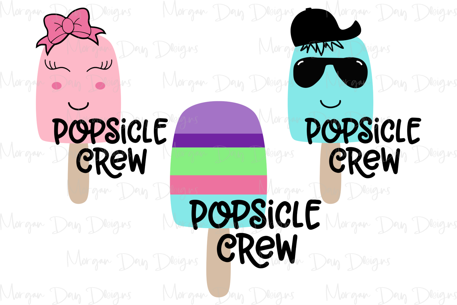 Popsicle Crew - Summer - Kids SVG, DXF, AI, EPS example image 2