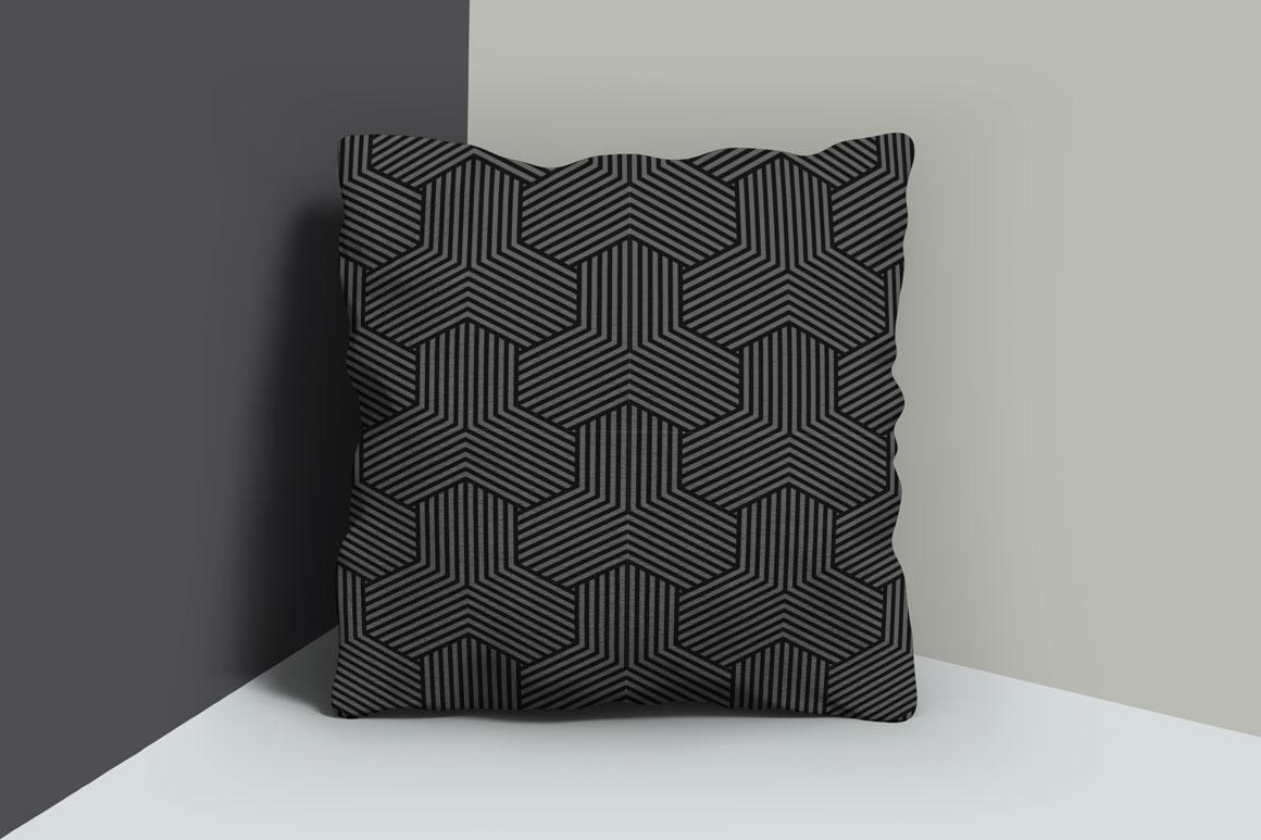 Dark striped geometric patterns example image 4