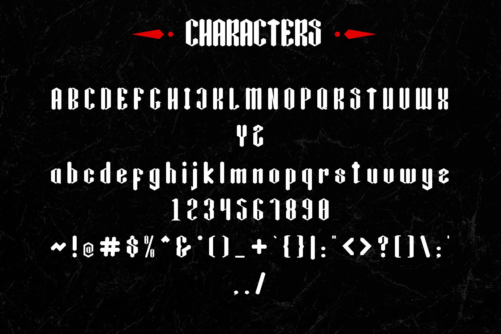 Black Krystal Font example image 4