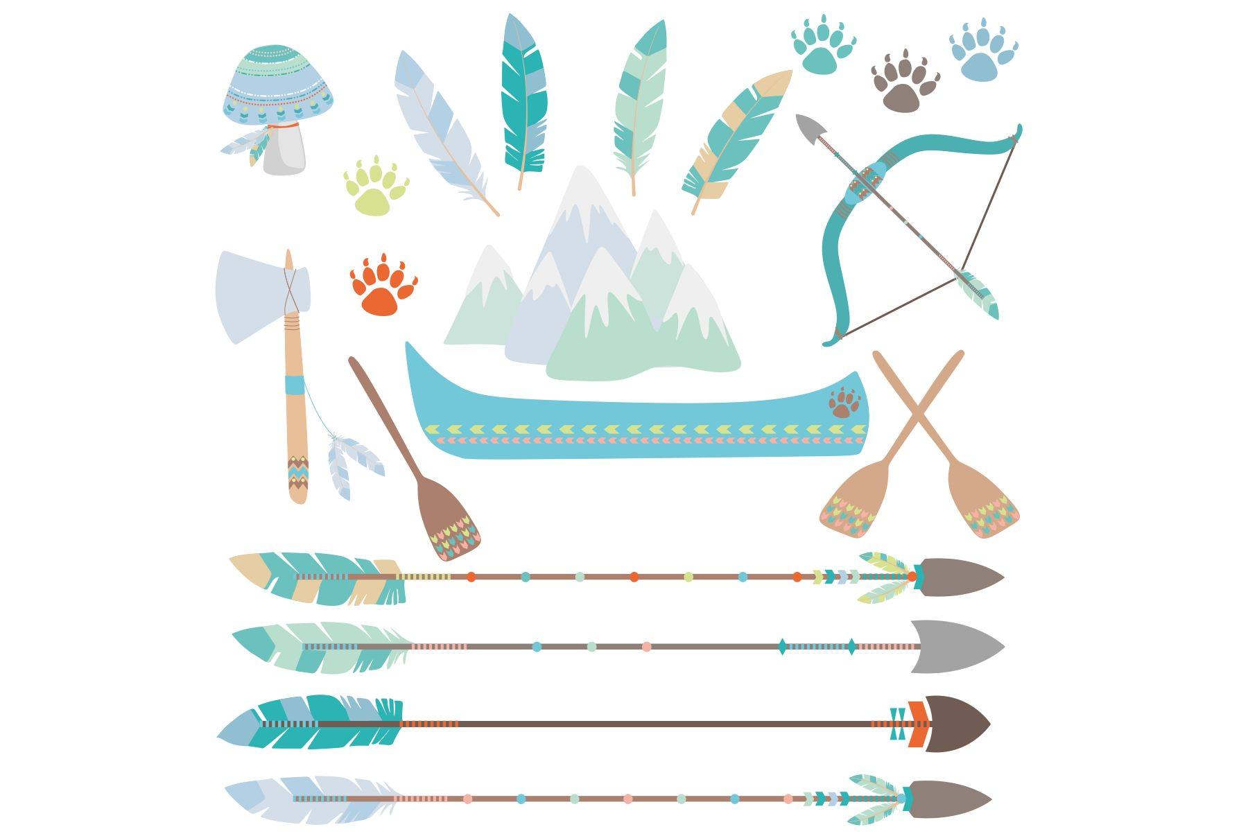 Tribal Animals Clipart example image 2