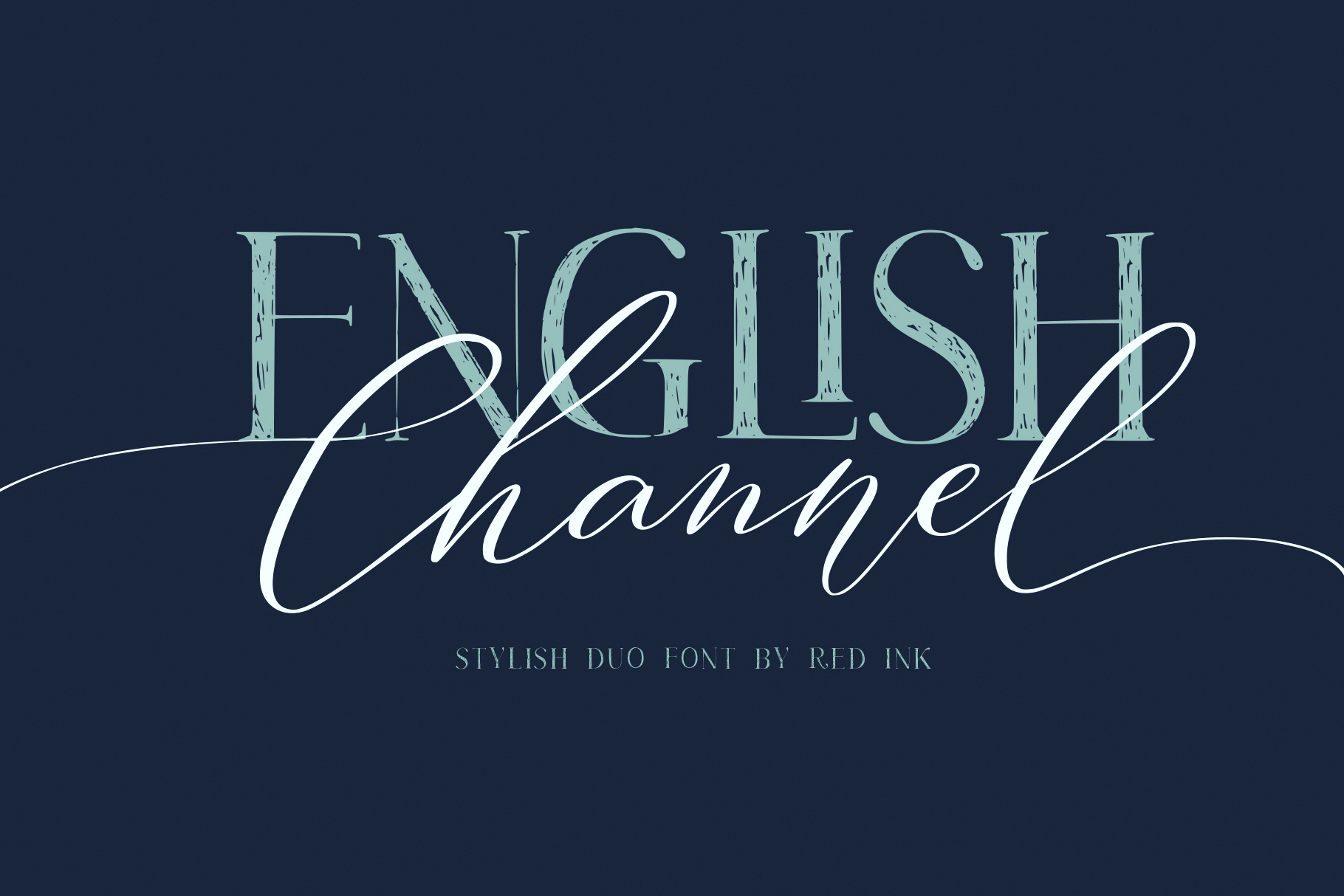 50 Off! English Channel. Duo Font example image 1