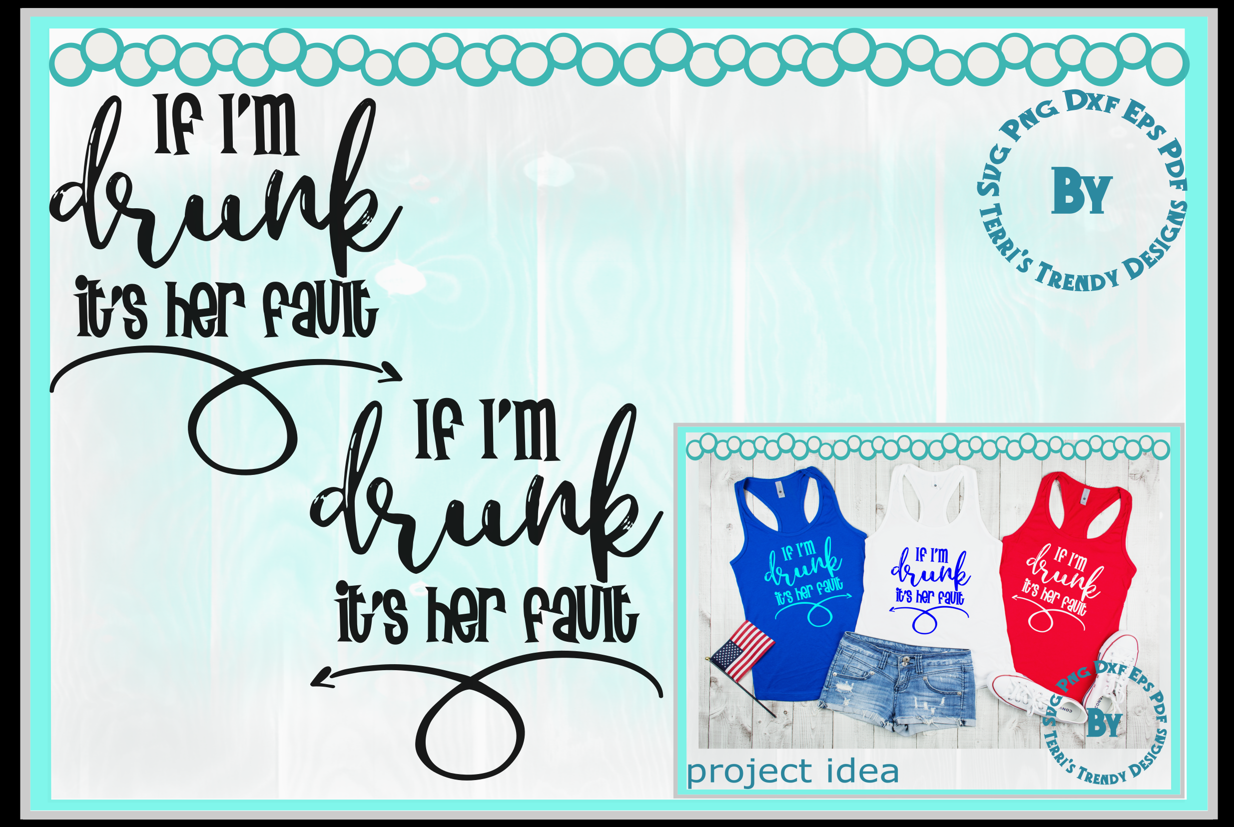 Funny bundle svg If I'm drunk His Her fault Bride Groom crew example image 3