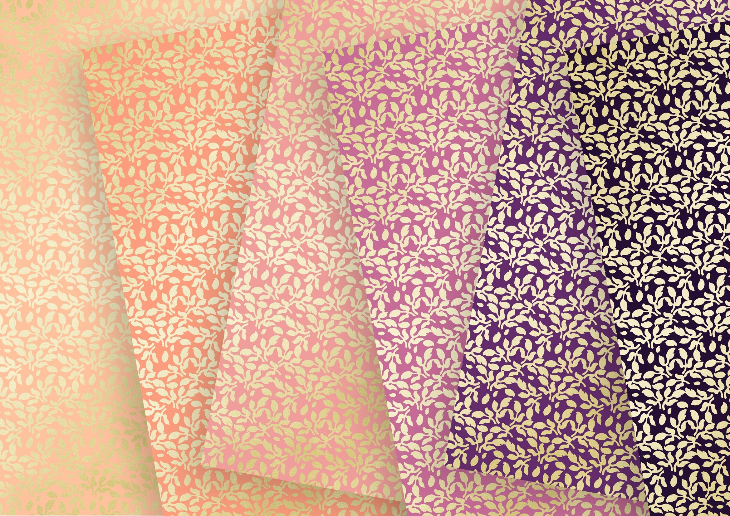 Twilight Soft Gold Digital Paper example image 4