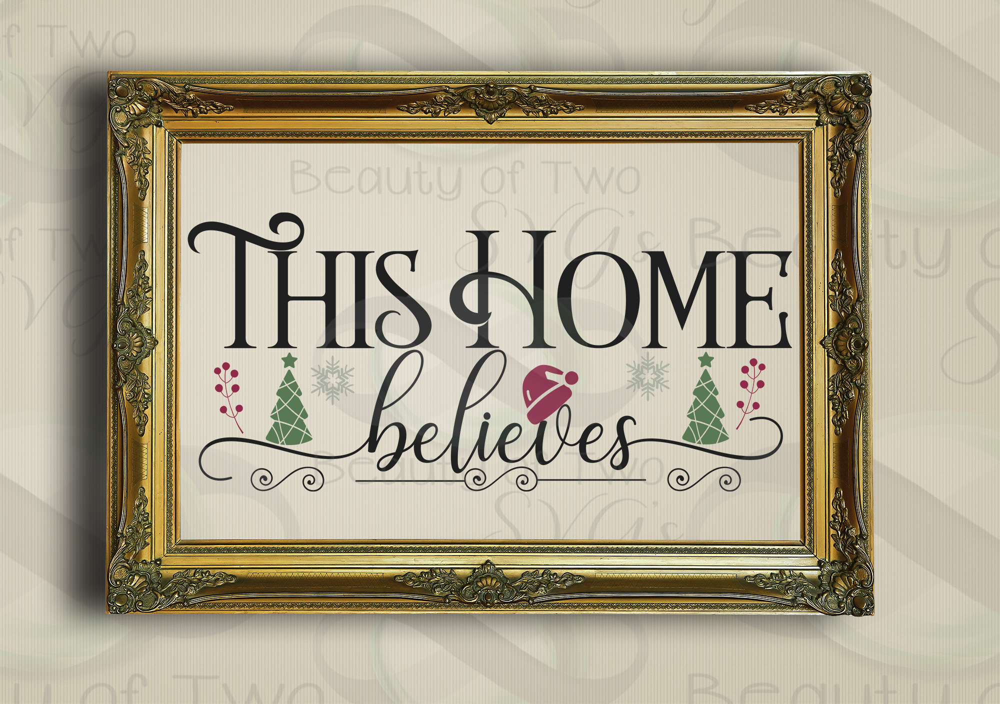 Christmas Farmhouse svg, This Home Believes front porch svg example image 3