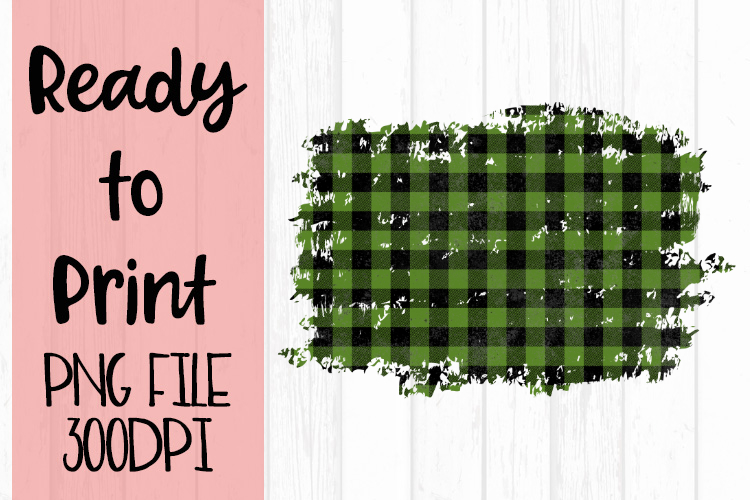 Olive Green Buffalo Plaid Frame Ready to Print example image 1