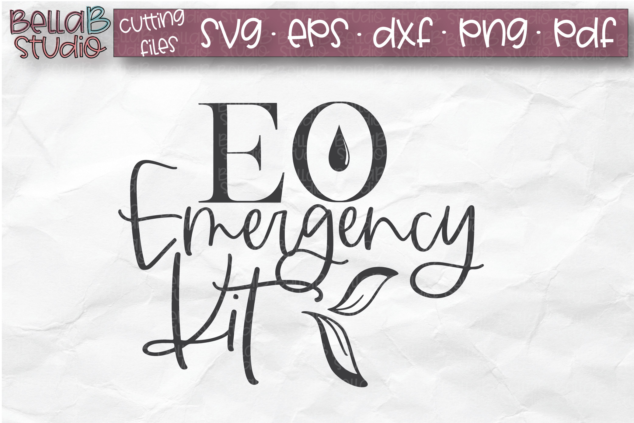 Essential Oils SVG, EO Emergency Kit, EO Bag SVG example image 1