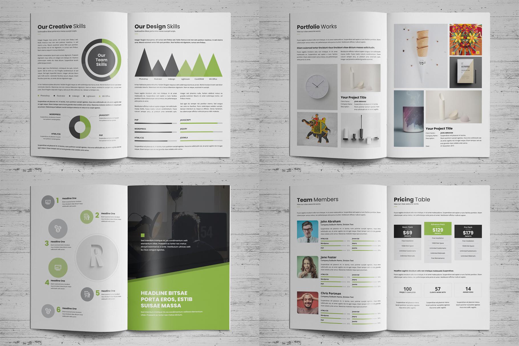 Portfolio Brochure Design v4 example image 17