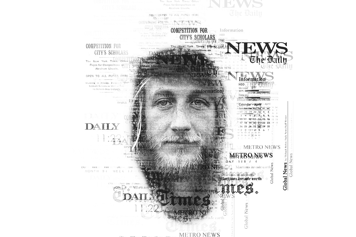 Newspaper Text Photoshop Action example image 6