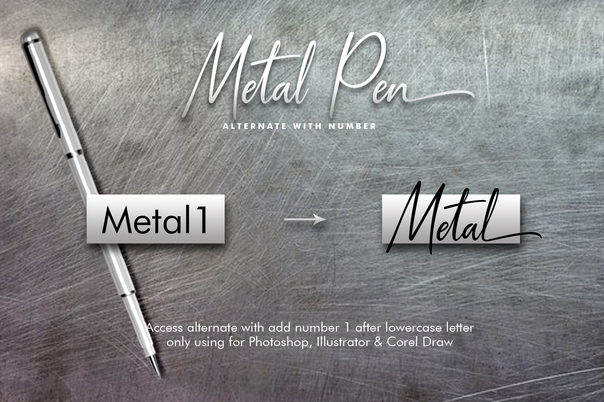 Metal Pen Script 3 Fonts example image 5