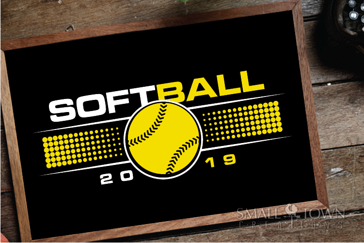 Softball, Ball sport, Sports, Team logo, PRINT, CUT & DESIGN example image 3