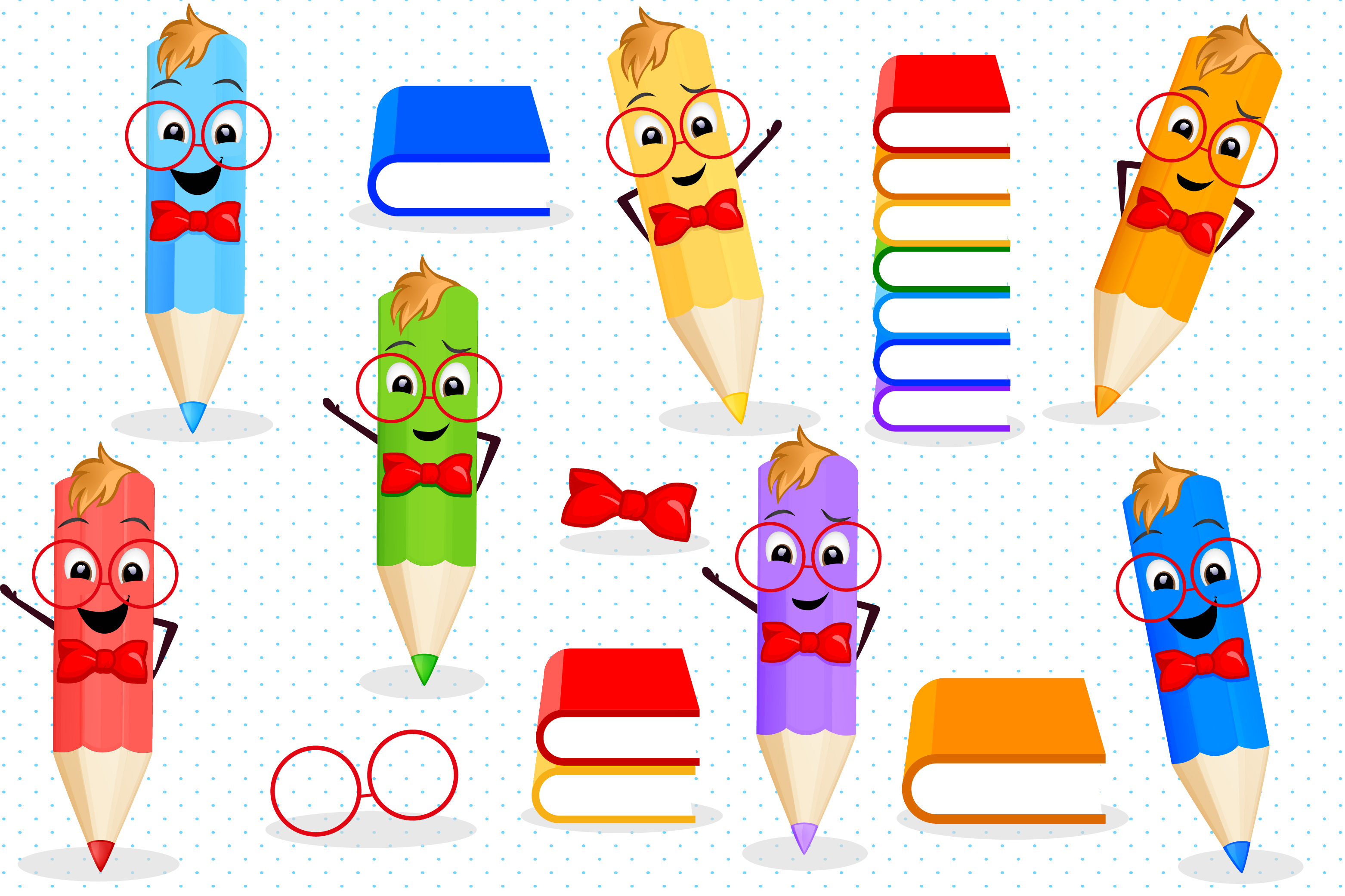 Back to school clipart, Pencils clipart
