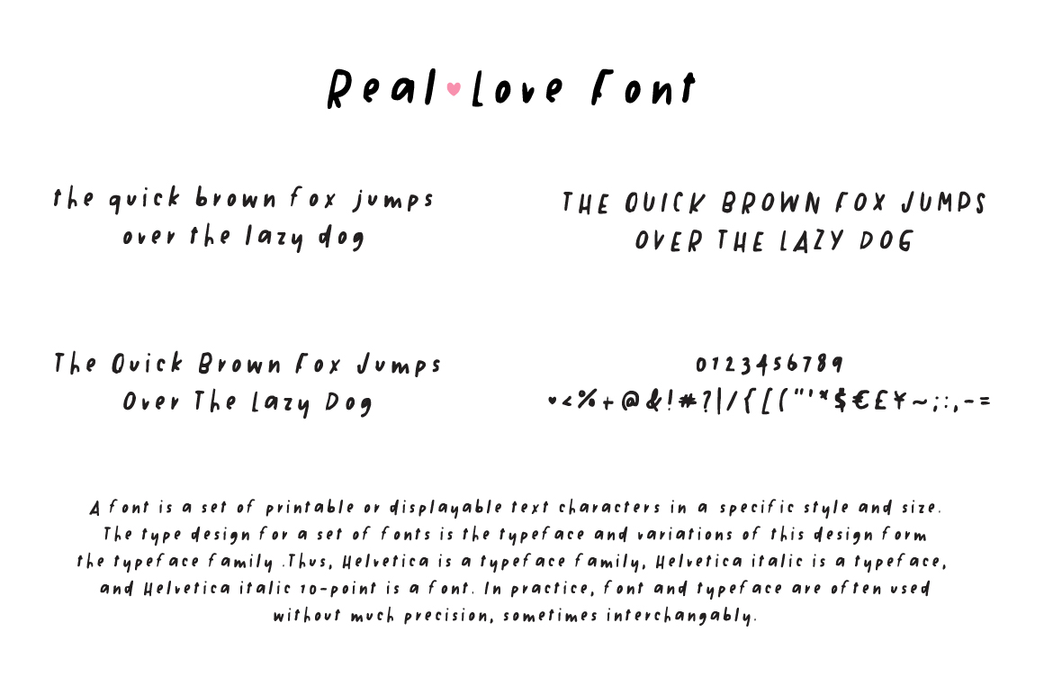Real Love Hand Drawn Font example image 2