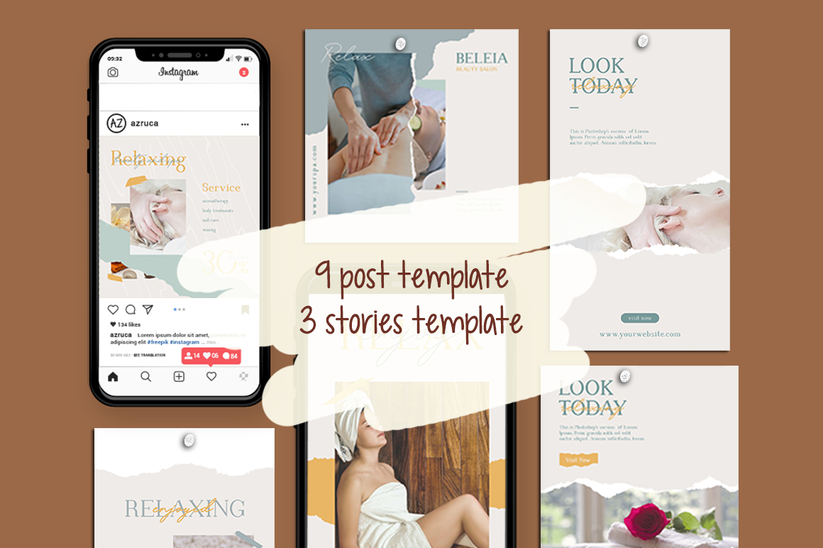 Relax Instagram Templates example image 9
