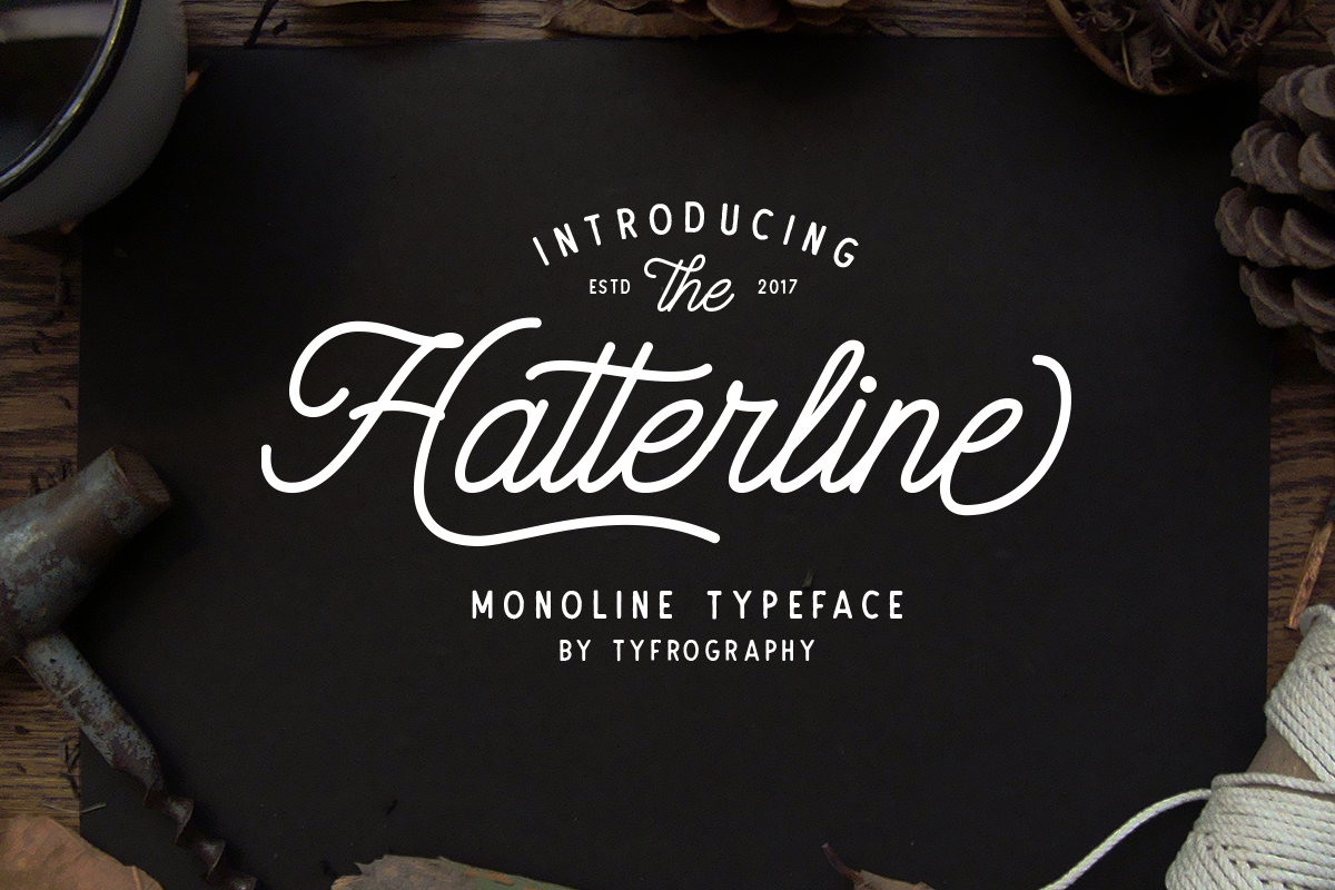 Download Hatterline Font + Sans | Free Font Download