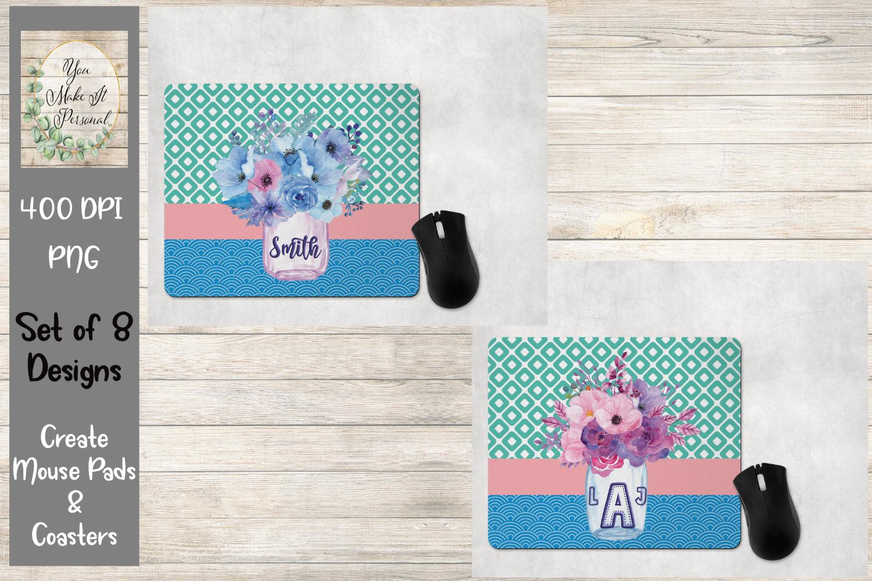 Floral Mason Jar- Mouse Pad and Coaster Bundle example image 2