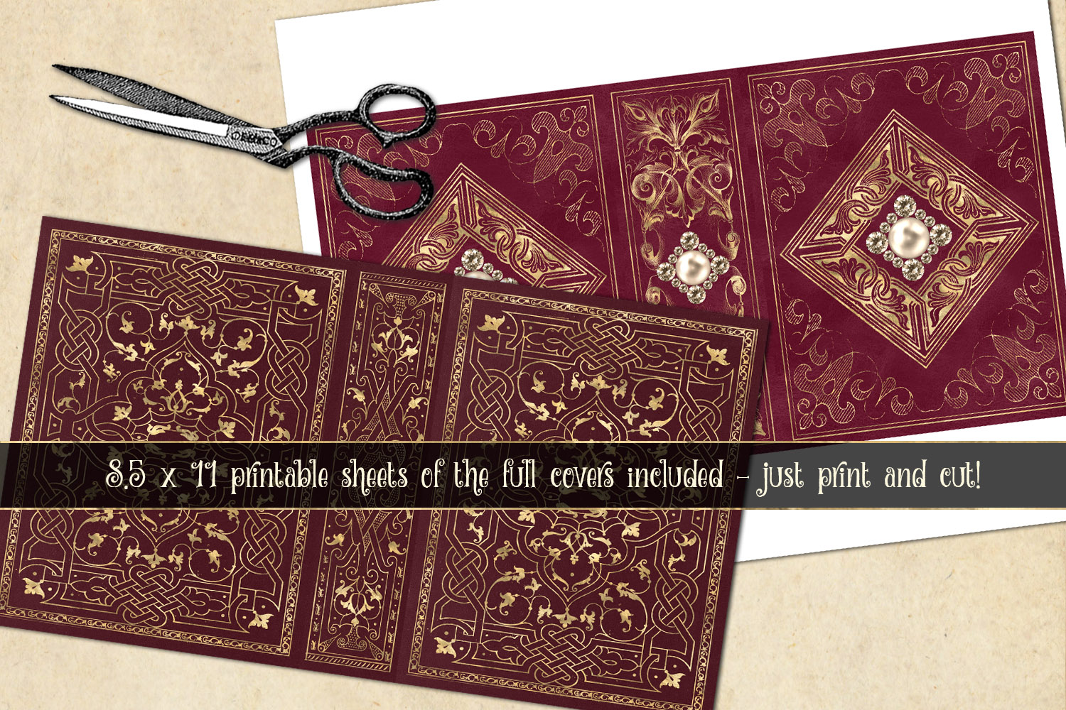 Gilded Red Book Covers example image 5