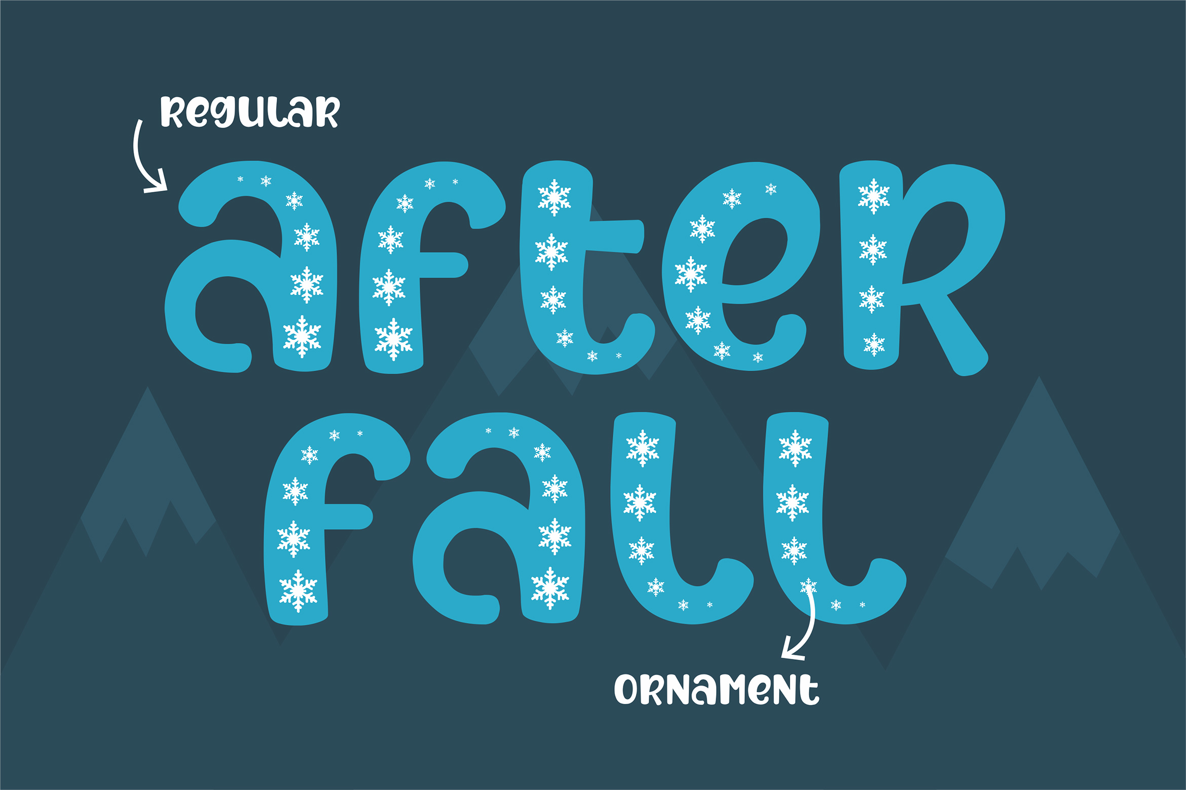 After Fall Winter and Xmas Font example image 3